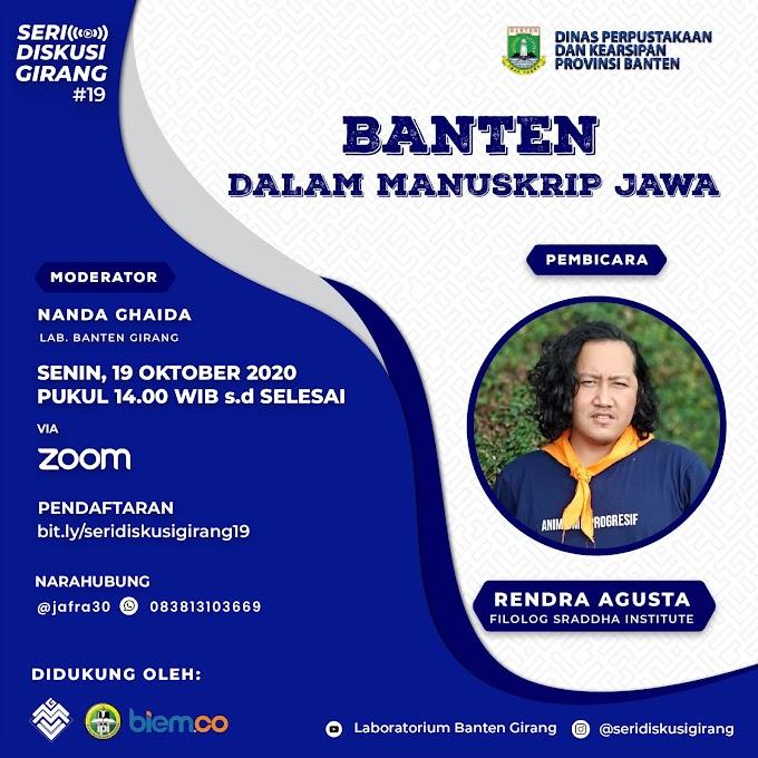 Seri Diskusi Girang 19: Banten dalam Manuskrip Jawa