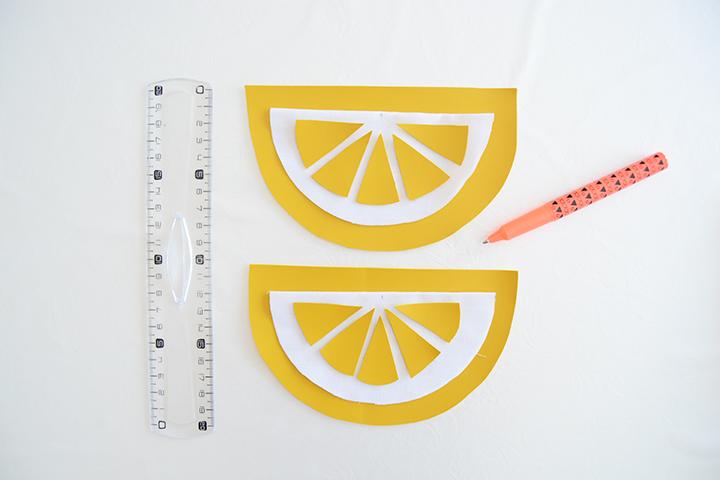 étape 1 diy porte monnaie citron