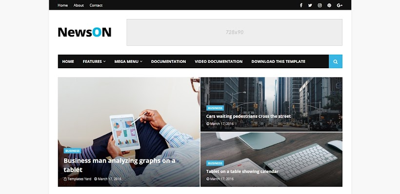 NewsOn Free Blogger Template