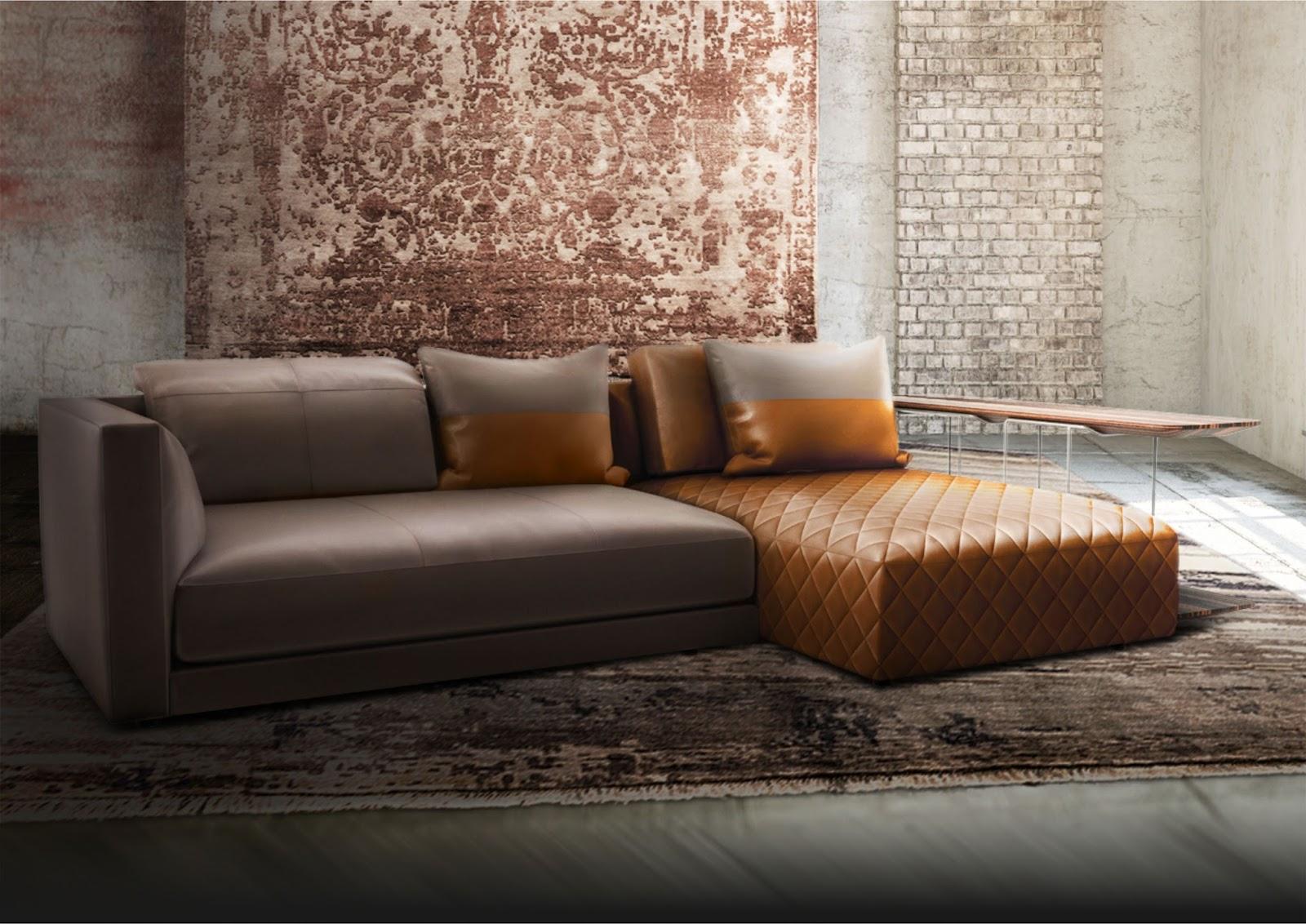 Latest Dual Toned Leather Sofa By Natuzzi