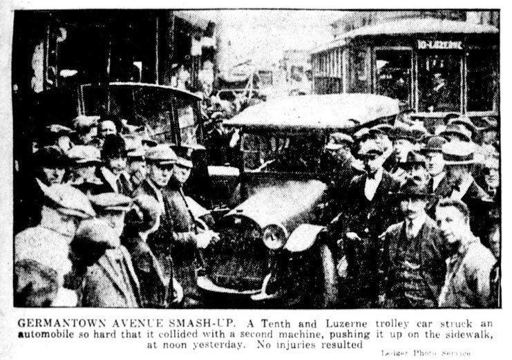 Philly & Stuff: Germantown Avenue Smash-Up - Public Ledger 14 May 1921