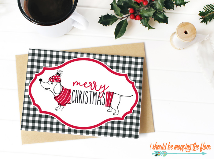 Merry Christmas Greeting Card Printable