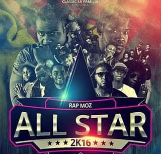 All Star Rap Moz (Trovoada, G-Fly, Bangla 10, Sam Wonder & 16 Cenas) 2016 Cypher part 2