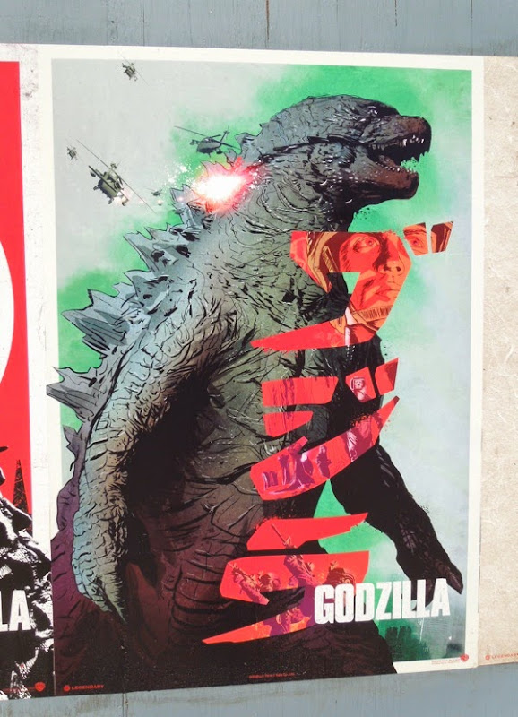 Godzilla movie remake retro poster