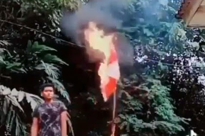 Viral ! Video Pria Bakar Bendera Merah Putih, Pelaku Diduga Warga Aceh