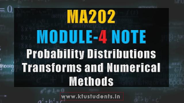 ktu ma202 note module 4