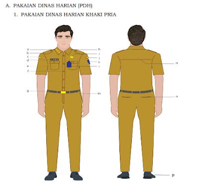 pakaian dinas PNS 2020 warna khaki