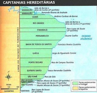 capitanias hereditárias brasil colônia resumo enem