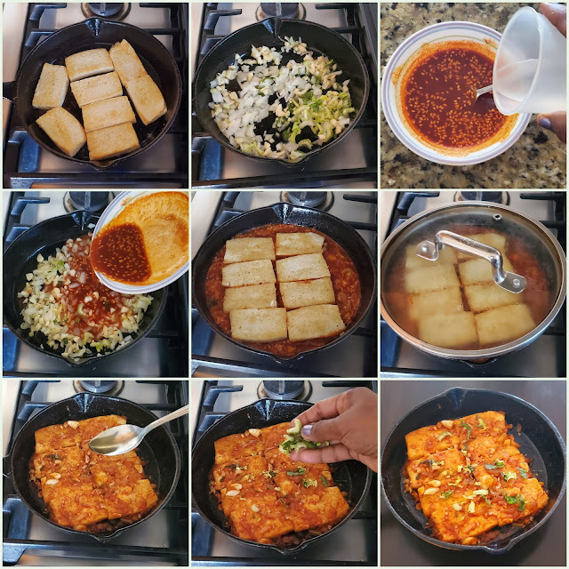 images of Braised Tofu Recipe / Spicy Braised Tofu / Dubu Jorim