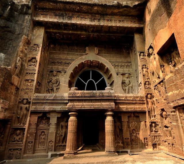 Façade of Ajanta Cave 19