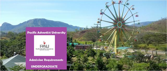 Pacific Adventist University Undergraduate Admission Requirements