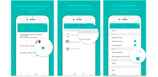 O app viralizou por que permite enviar mensagens anônimas a terceiros - Reprodução