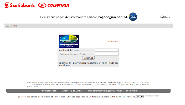 Consultar, Descargar, Imprimir, Pagar, Duplicado, Factura de Emcartago por Internet en Linea PSE 2020