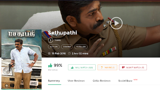 Sethupathi 2016 Tamil Full DvDRip Movie Free 300Mb
