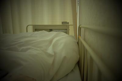 Hospital bed, Tokyo, Japan.