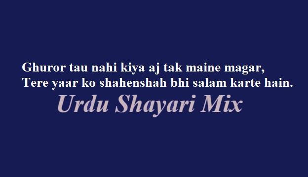 Ghuror tau nahi kiya | Attitude shari | 2 line poetry