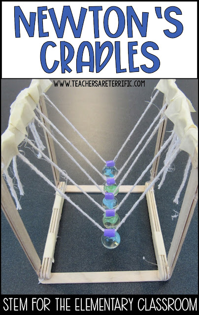 STEM Challenge Build a Newton's Cradle for a hands-on activity for Newton's Third Law of Motion!
