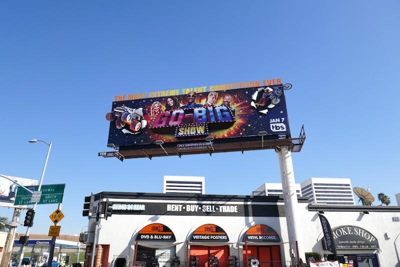 Go-Big Show launch billboard