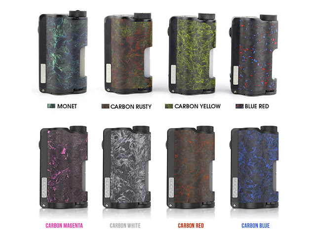 Topside Dual Carbon is  the world's first top fill squonker mod.