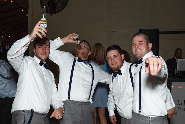 Groomsmen drinking bear Magnolia Manor Wedding Photos by Stuart Wedding Photographer Heather Houghton Photography