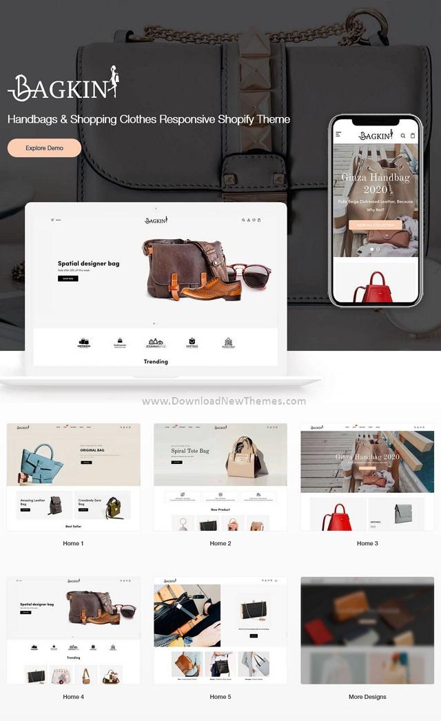 Handbags & Shopping Clothes Responsive Shopify Theme