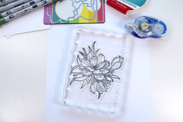 How to make a floral card with photopolymer stamps from Waffle Flower