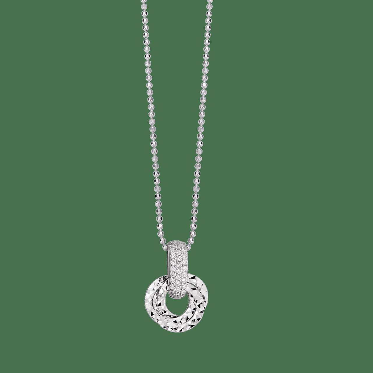 Mặt dây chuyền Vàng trắng Ý 18K đính đá CZ PNJ XM00W000256