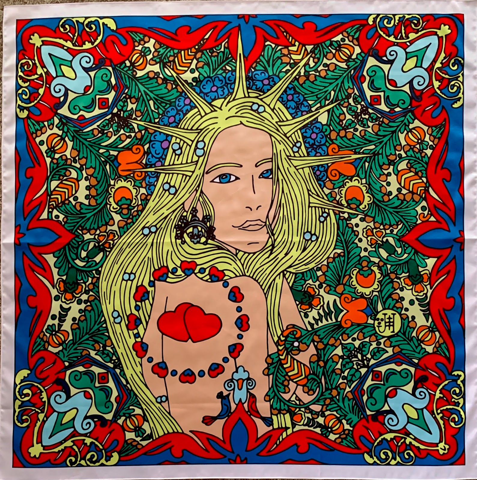 The women's scarf with goddess Lada