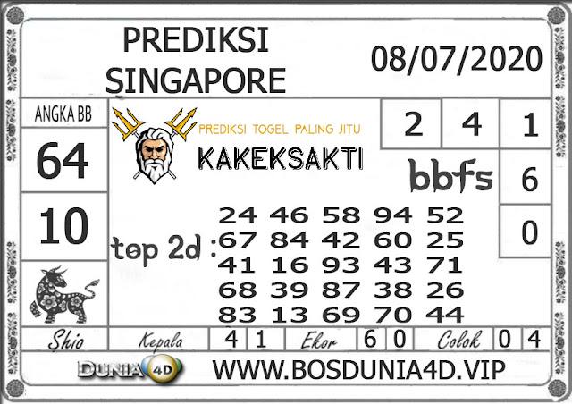 Prediksi Togel SINGAPORE DUNIA4D 08 JULI 2020
