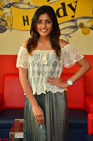 Eesha in a cute deep neck top and Skirt at at Big FM 033.JPG
