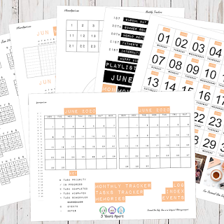 June 2020 Bullet Journal / Planner Free Printable Stickers!