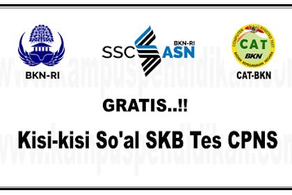 Contoh Soal SKB Tes CPNS Dari BKN Semua Instansi