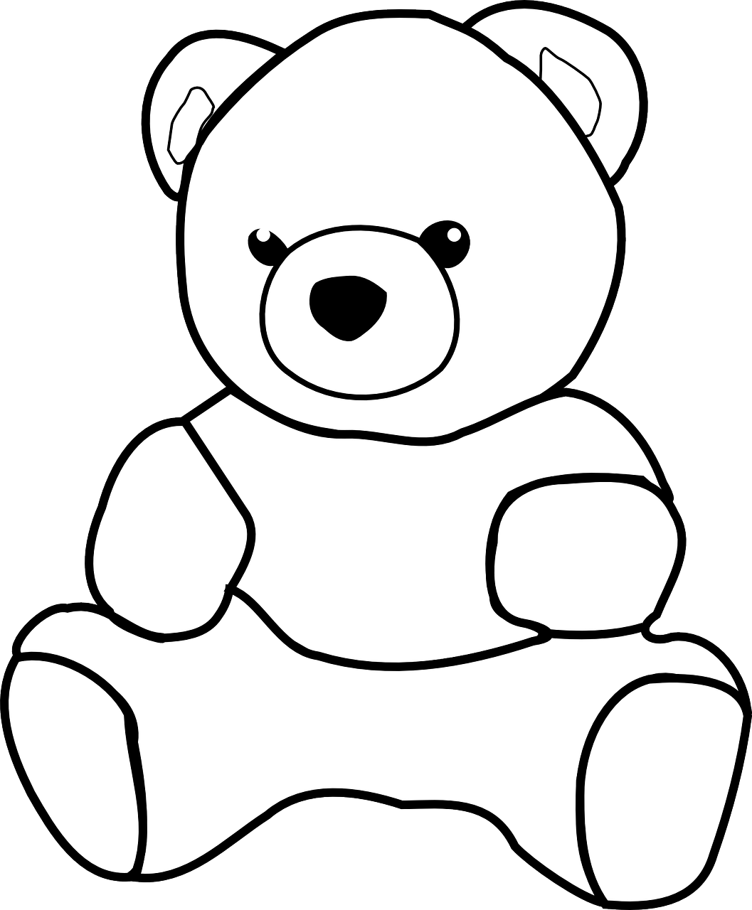 Daftar Mewarnai Gambar Boneka Beruang Unguentine Sketsa