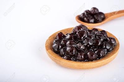 The tapioca pearls