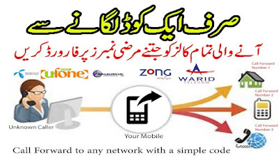 Call Forwarding Codes to Jazz, Zong, Telenor & Ufone - All Networks Call Divert codes