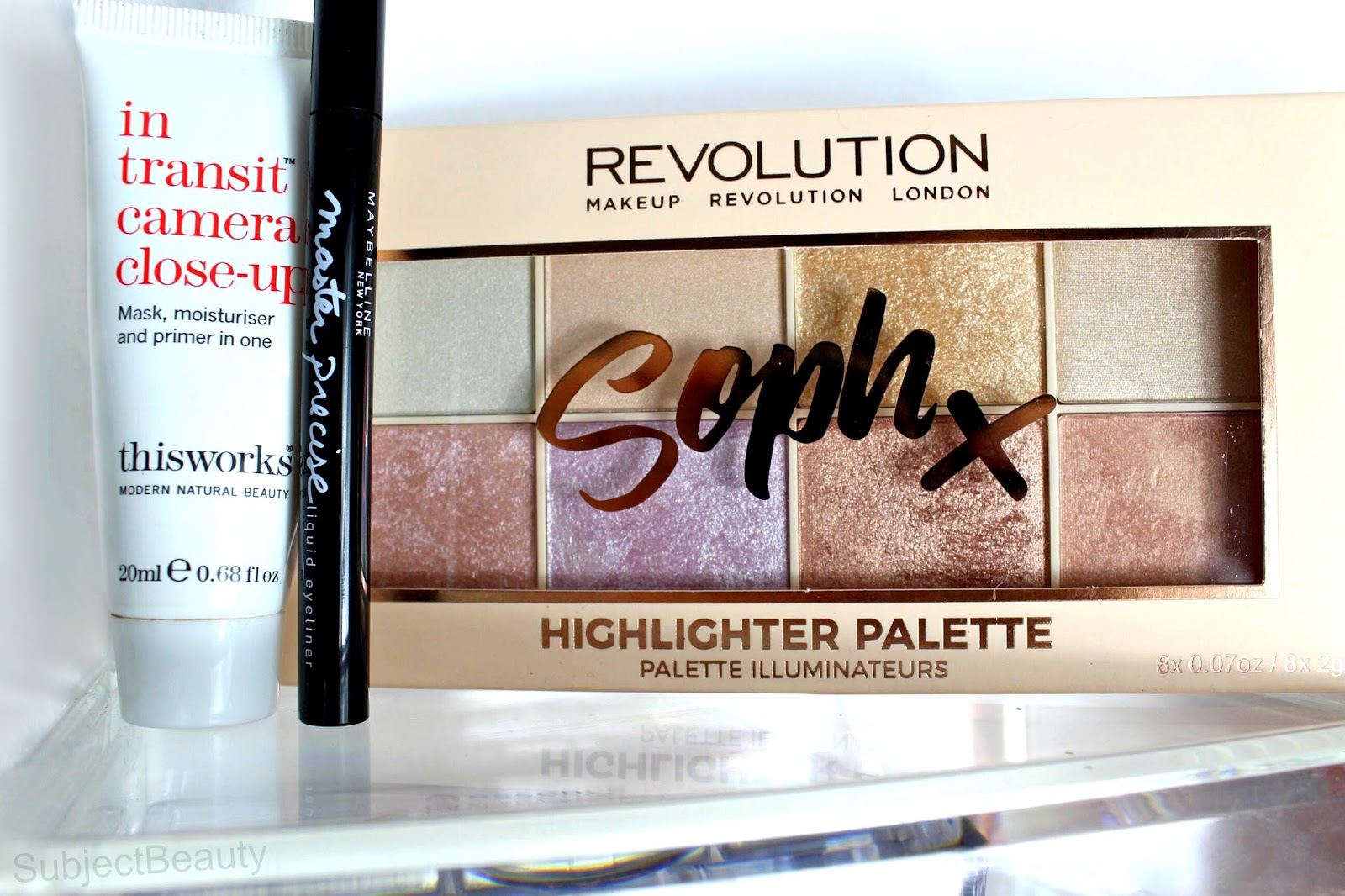 Sophx Makeup Revolution London Highlighter Palette 5 makeup Bag Picks