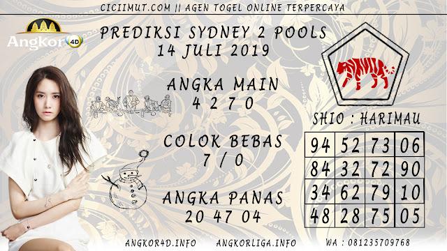 PREDIKSI SYDNEY 2 POOLS 14 JULI 2019