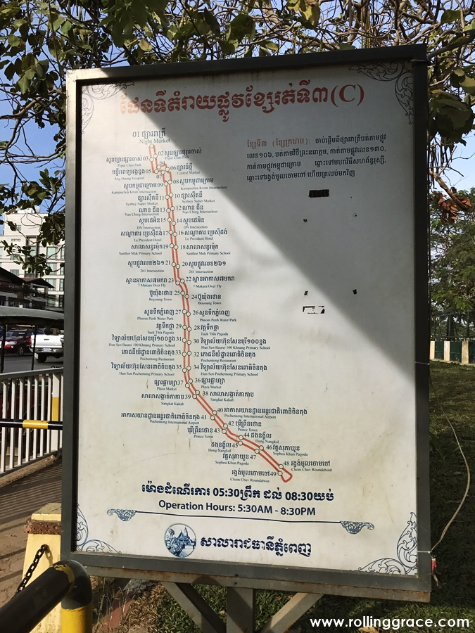 Getting from the Airport into Phnom Penh by Bus