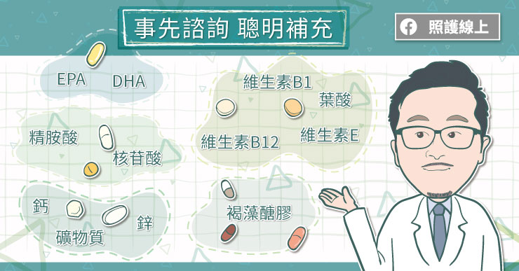 癌症營養補充品,事先諮詢聰明補充