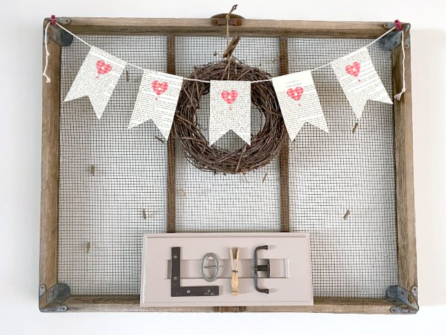 Vintage and rusty hardware neutral Valentine's Day sign