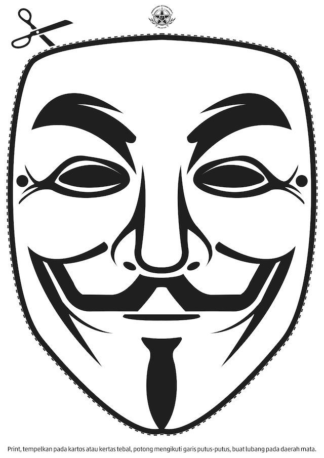 You are anonymous: Anonymous Mask (black and white)