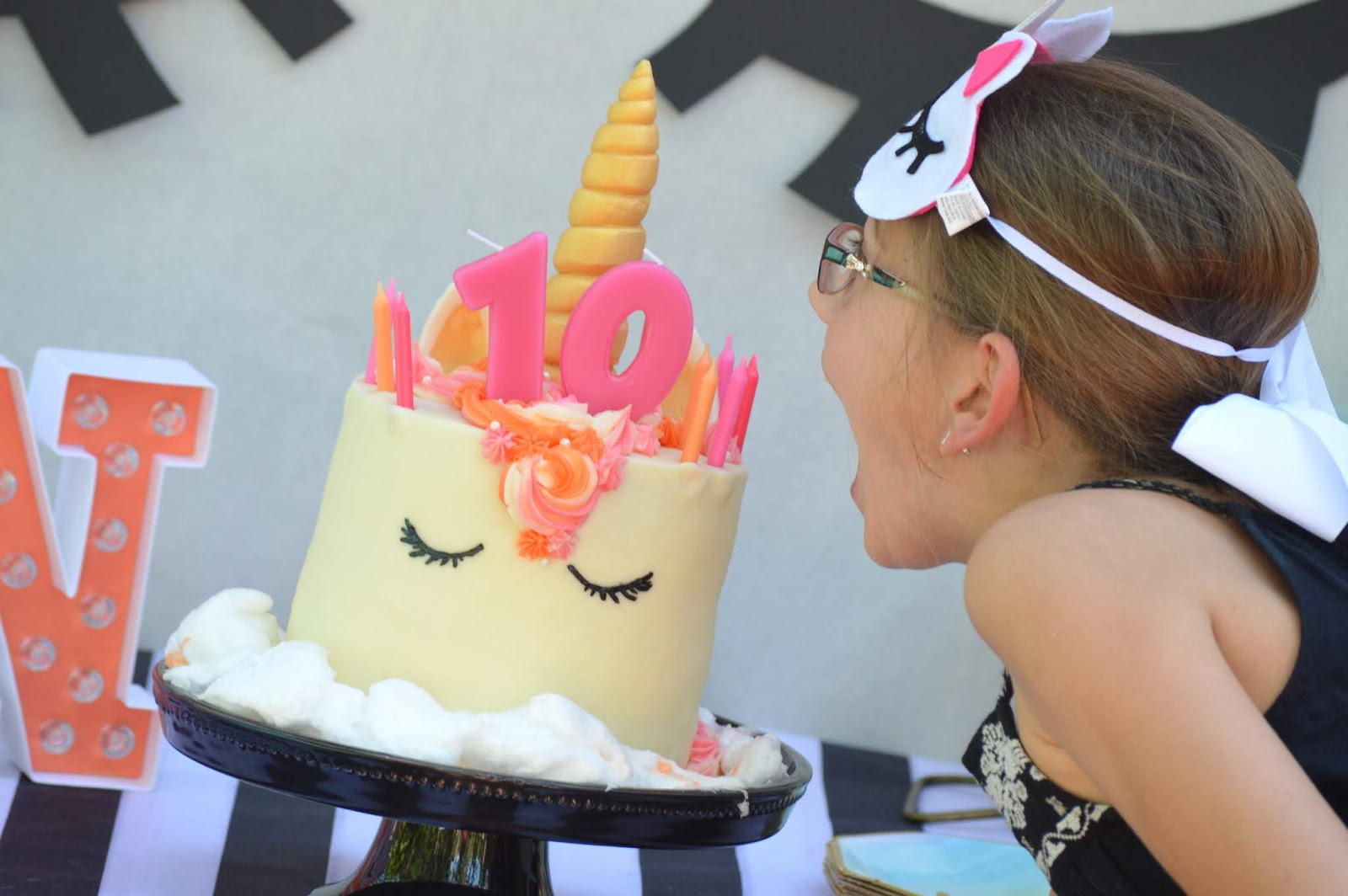 Unicorn spa party    a magical day for my favorite ten year