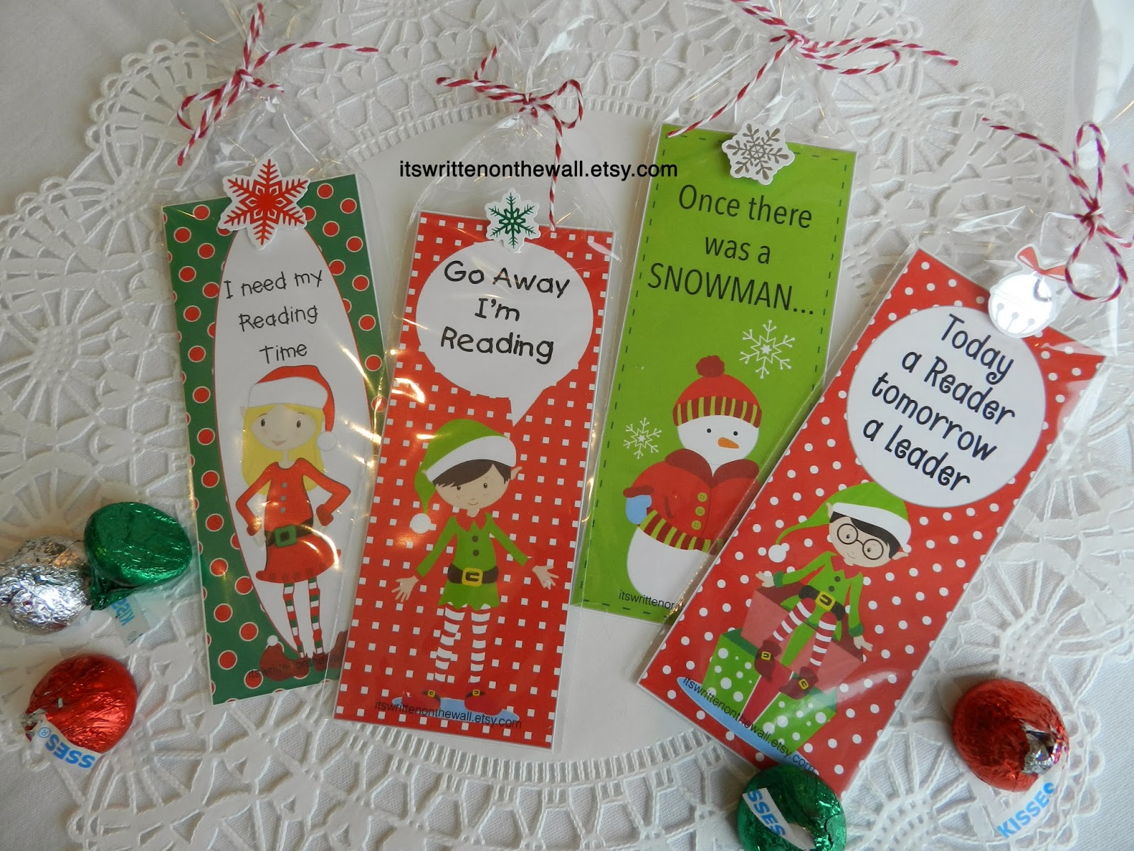 It\'s Written on the Wall: 12 Different Christmas Bookmarks for Your ...