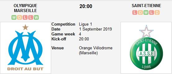 مشاهدة مباراة مارسيليا وسانت إتيان بث مباشر اليوم 01-09-2019 في الدوري الفرنسي