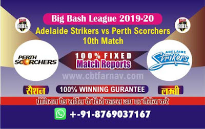 Today Match Prediction BBL T20 Perth vs Adelaide 10th Match Betting Tips