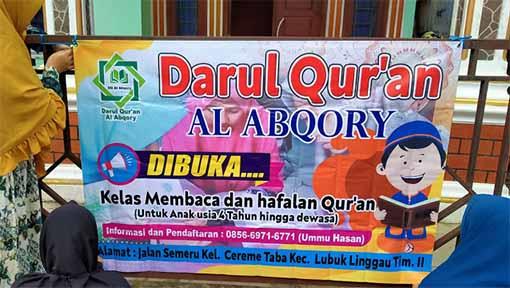 Tempat Belajar Al Quran di Lubuklinggau
