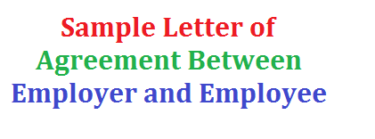 Sample Letter of Agreement Between Employer and Employee