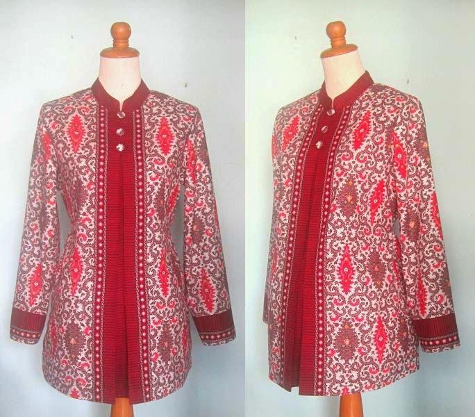 15 Model Baju Hamil Batik Kerja Muslim Terbaru 03f077792c