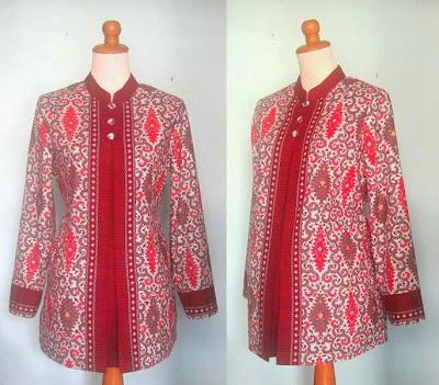 Kumpulan Model Baju Batik Kerja Muslim Modern Terbaru