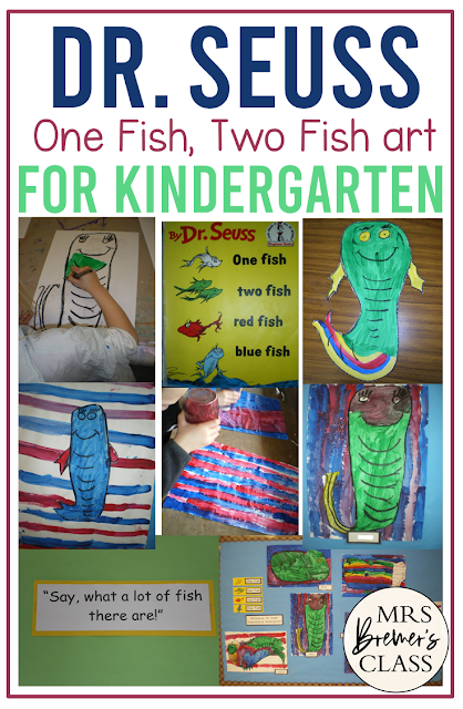 Dr. Seuss One Fish Two Fish art activities for Kindergarten
